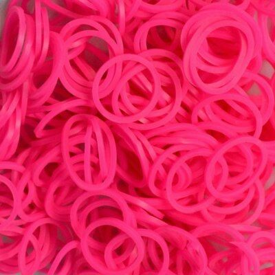 NEW Neon Pink Rainbow Loom Rubber Bands NEW! from Purple Turtle Toys