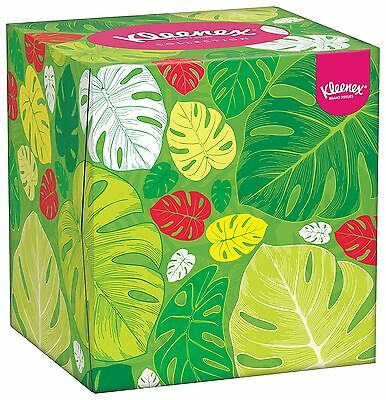 Kleenex Collection Cube - 12 Boxes (56 Tissues Per Box 672 Tissues Total)