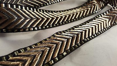 Beautiful 28mm black & gold woven trim lace 4 crafting, designing, decorating 1m