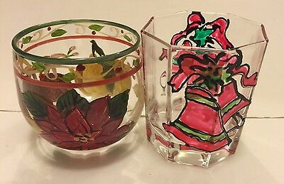 Hand Painted Christmas Drinking Glasses