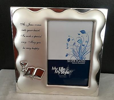 *NEW* SILVER FIRST HOLY COMMUNION FRAME 9cm X 13cm