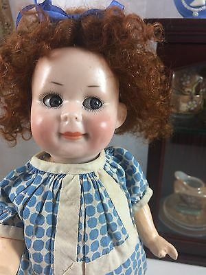 "10"" PM Porzellanfabrick Mengersgeruth 950 Antique German Bisque Head Googly Doll"