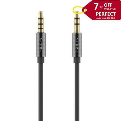 ROCK Aux Cable Stereo Audio 3.5mm Jack Male to Male In-line Control Tarnish
