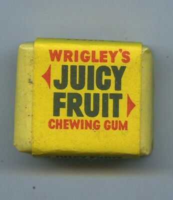 Vintage 1960's Packet New Old Wrigley's Stock Juicy Fruit Packet Of 4 Pieces V49