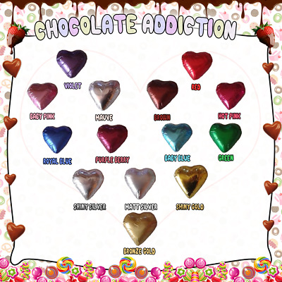 200 Milk Chocolate Foiled Hearts *weddings, Birthdays, Bombonniere, Christenings