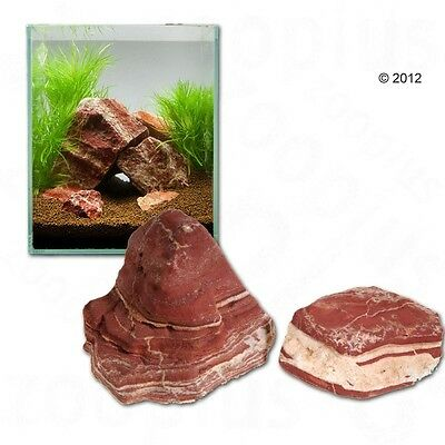 Fiery Red Rocks Aquarium Landscape Decoration Durable Natural Shape 80cm Set 8kg
