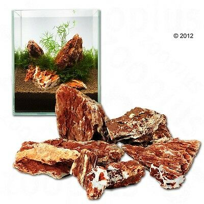 New Samurai Natural Rocks Aquarium Landscape Decoration Rusty Brown 80cm Set 8kg