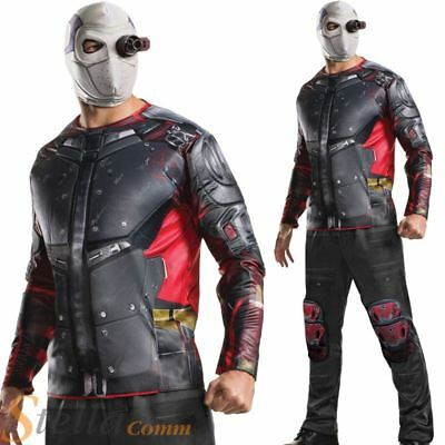 Deadshot Fancy Dress Suicide Squad Mens Deluxe Costume Halloween Adult Outfit