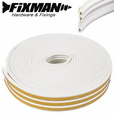FIXMAN 15m WEATHER STRIP P PROFILE SELF-ADHESIVE STRIP FOR GAPS OF 2-5mm Draught
