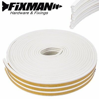 15m OF E-PROFILE SELF ADHESIVE WEATHER STRIP FOR GAPS OF 1-3mm Draught/Window