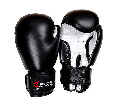 Boxing  Gloves Premium Leather MMA Punch Bag Muay Thai Kick Boxing - Spedster