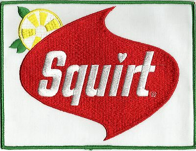 "Squirt Soda Patch Embroidered 6""x 8"" Mint"