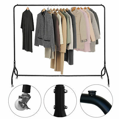Portable Clothing Rack Home Garment Hanging Stand Coat Rolling Display Rail