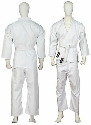 Karate Suit Adult Karate Uniform Gi 100% Cotton & Free Belt (4 - 170cm) Spedster