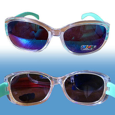 Kids Girls Rectangular Clear Strongly Made Quality Sunglasses Age 3 - 6.