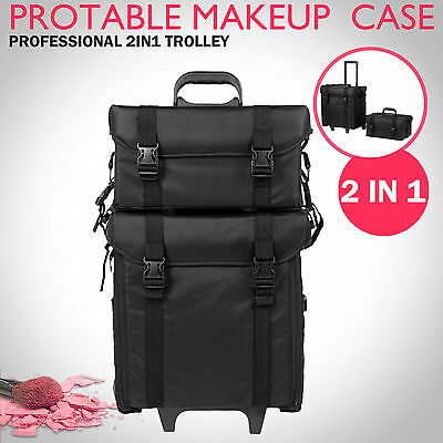 Beauty Trolley Makeup Case Portable Cosmetic Carry Bag Box Drawer Organizer