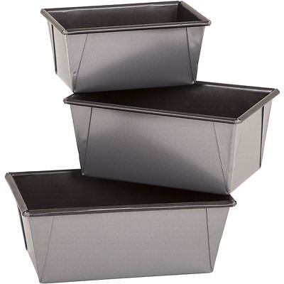Wham Farmhouse Loaf Tins 3 Pack Double Coated Non Stick Pan Bread Baking