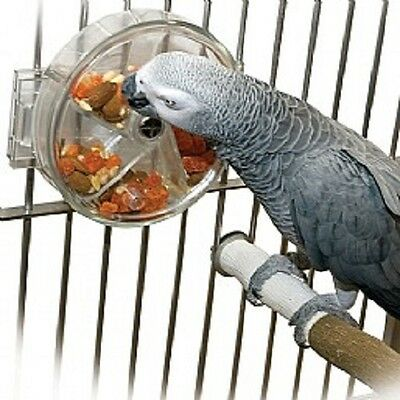 Parrot foraging wheel - puzzle food toy for parrots - african grey, amazon, etc.