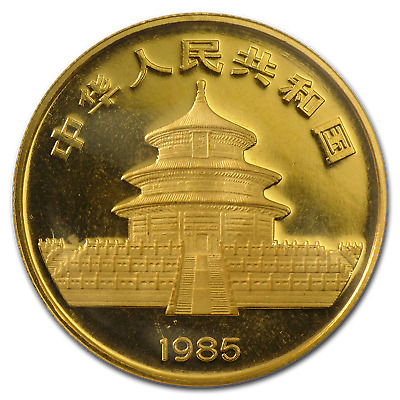 1985 1/2 oz Gold Chinese Panda Coin - Sealed in Plastic - SKU #8954