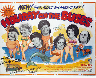 Holiday on the Buses UNSIGNED poster photo - G117