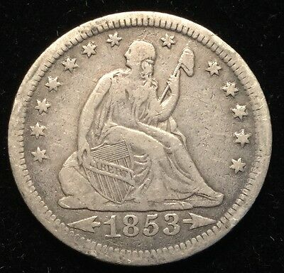 1853-O 25C Seated Liberty Quarter