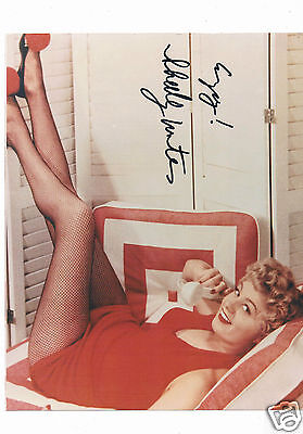 Shelley Winters American Actress Hand Signed Photograph size 10 x 8  inches