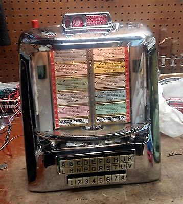 SEEBURG JUKEBOX WALLBOX 3WA-160  RESTORED and WORKING - STOCK #5114