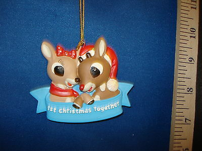 Our First Christmas Ornaments Rudolph and Clarise RU2903 538