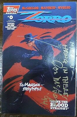 Signed by Don McGregor! 1993 ZORRO #0! Deluxe Collector's Edition! See Descrip.