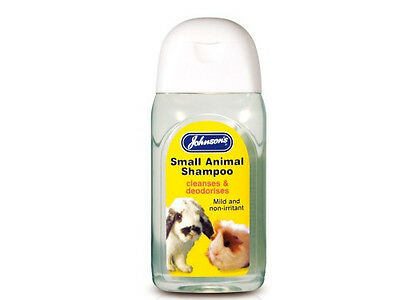 Johnsons Small Animal Shampoo deodorises 125 ml Rabbit Guinea Pig Rat Ferret