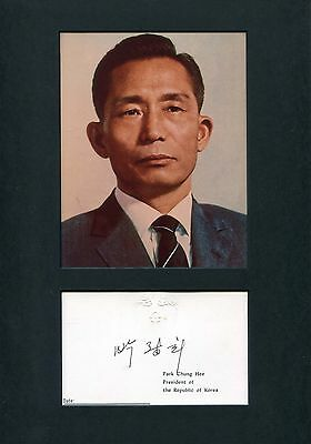 Chung-hee Park SOUTH KOREA autograph, signed official card mounted