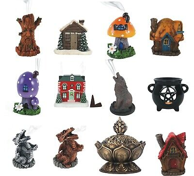 Wolf / Toadstool / dragon Incense Cone Burner Cute Smoking incence insense Gift