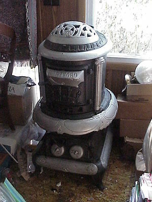 Antique Pot Belly Cast Iron WOOD Stove #22 NICE for Man Cave Parlor Potbelly