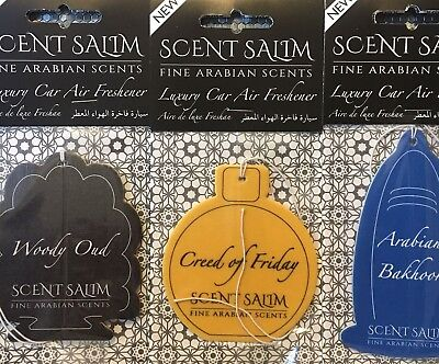 3 × Different Perfume scented car Air Freshener, NEW Arabic attar Scent Salim