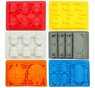 Star Wars Silicone Ice Trays / Chocolate Candy Molds Set of 7