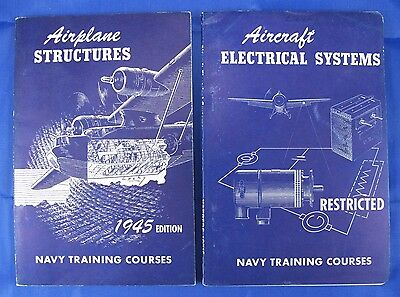 2 Vtg Navy Training Courses: Airplane Structures & Aircraft Electrical Systems