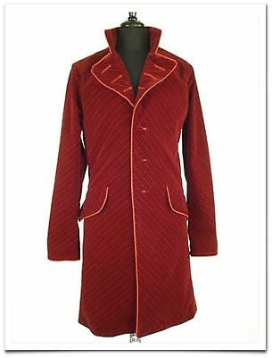 Redballs On Fire London Burgundy Willy Wonka Coat as Worn by Johnny Depp in Film