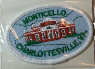 New Old Stock Voyager Iron On Monticello Charlottesville Virginia Patch Badge