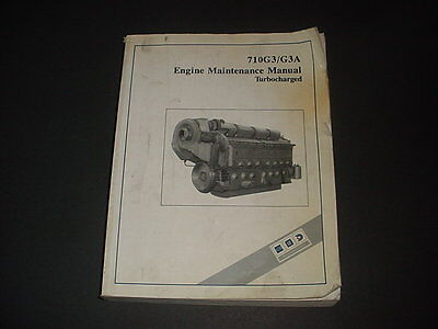 GM 710G3 / G3A Engine Maintenance Manual Turbo charged Diesel General Motors