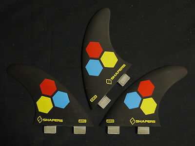Fcs Channel islands shapers fins AM3 size Small tri fin surfboard fins new