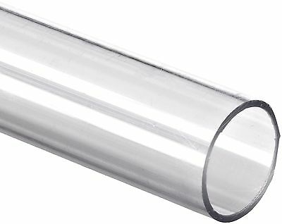 """Polycarbonate Tubing 1 7/8"""" ID x 2"""" OD x 1/16"""" Wall Clear Color 24"""" L 24 inches"""