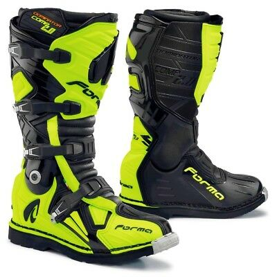 Forma Dominator Comp motocross boots, black, motorcycle gs pro offroad best tech