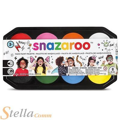 Snazaroo Jumbo Face Body Paint Palette Kit 8 x 18ml Colours Fancy Dress Make Up