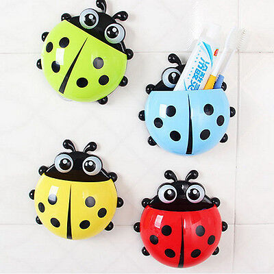 newcomdigi dtop Ladybug Toothbrush Wall Suction Sucker Holder Titulaire