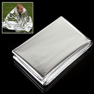 Silver Double Sides Outdoor Survival Rescue Emergency Military Sleep Blanket