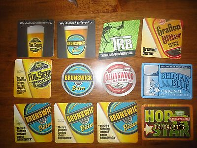12 Different THUNDER ROAD BREWERY,Brunswick,Victoria, collectable COASTERS