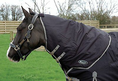 RHINEGOLD Konig Medium Weight Turnout Rug with detachable neck cover All Sizes