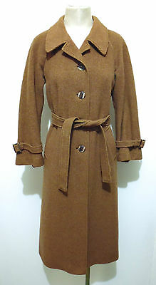 CULT VINTAGE '70 Cappotto Donna Lana Tweed Woman Wool Coat Sz.M - 44