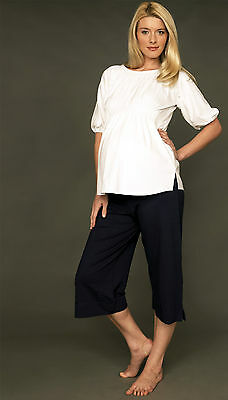Picchu Maternity Culottes, Navy, BNWT, RRP £50 - Wide leg Cropped, FAST DELIVERY