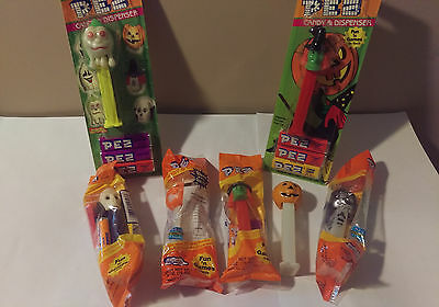 Assorted Halloween-Themed Pez Dispensers, as shown-7 total